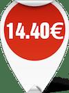 Τιμή Ψαλίδι 8'' 1/2 RL 14.40 ευρώ